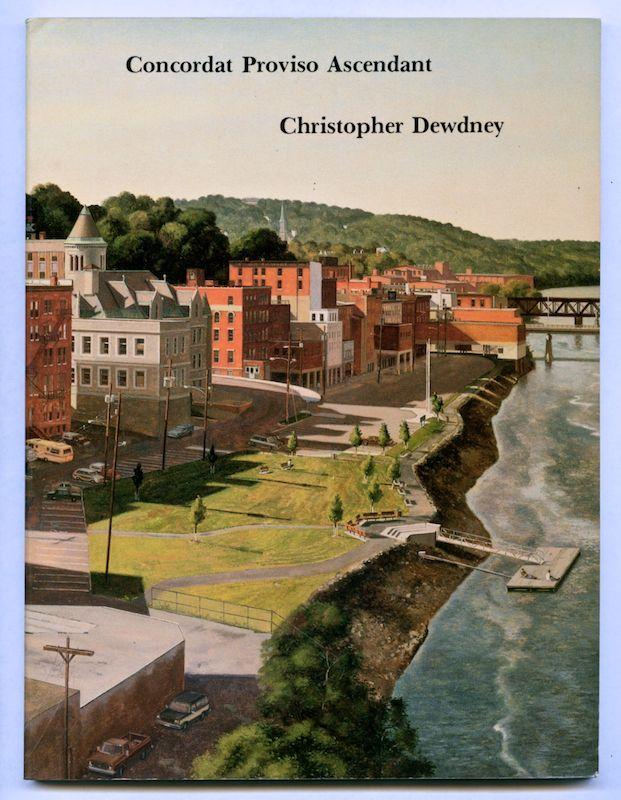 Christopher Dewdney. Concordat Proviso Ascendant. The Figures, 1991. Edition of 1,250.