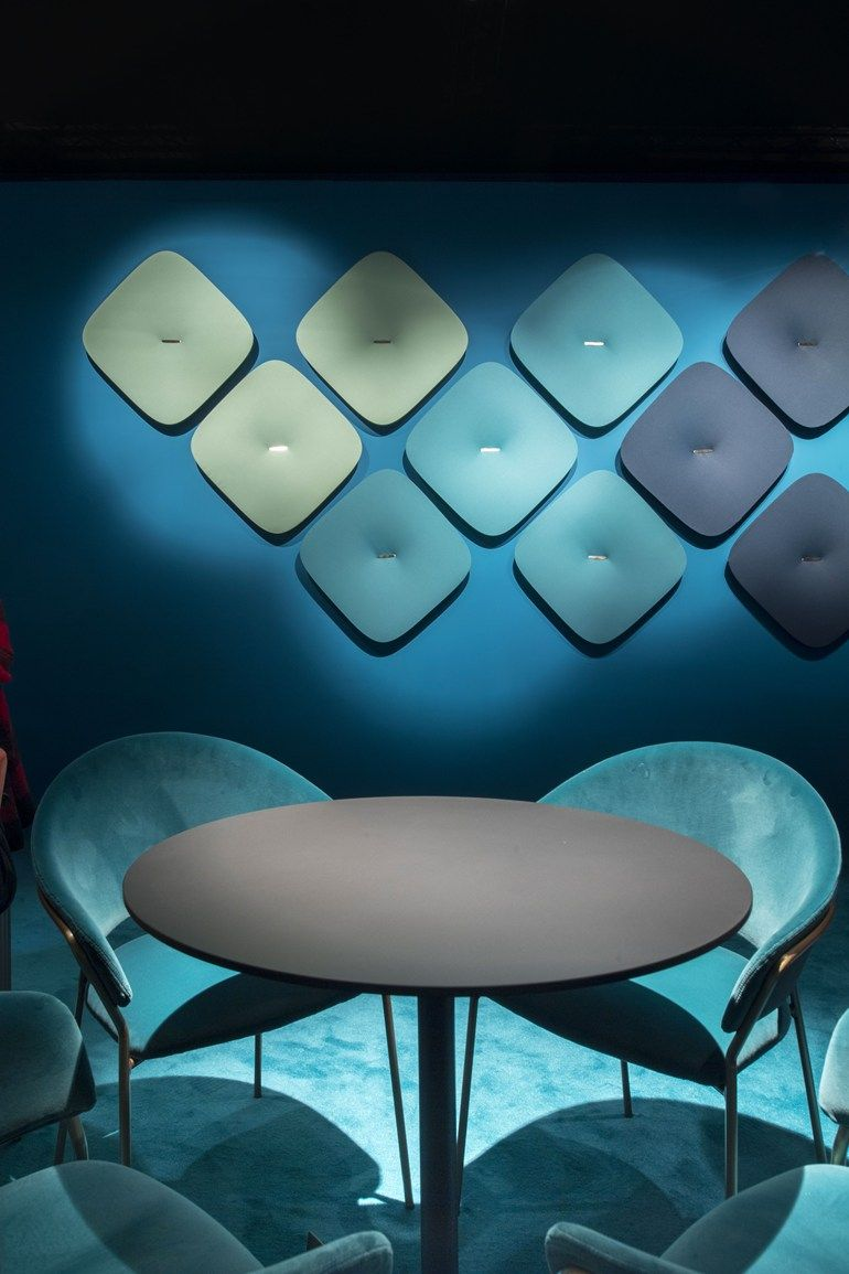 Synthetic fibre decorative acoustical panel SNOOZE by PEDRALI | Co ...