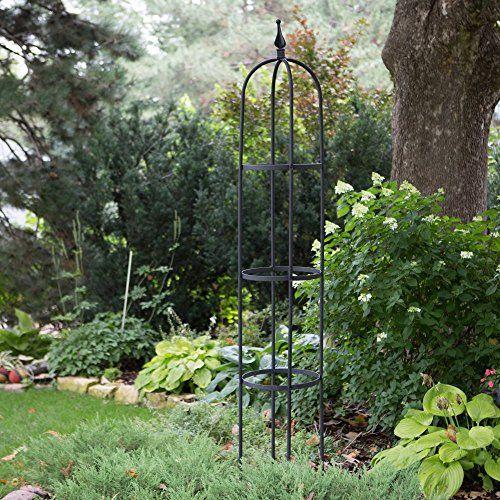 Amazon.com : Border Concepts Border Concepts Giant Obelisk, Metal : Wrought Iron Trellis : Patio, Lawn & Garden