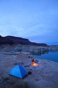 ▲ camping......in Glen Canyon National Recreation Area, UT