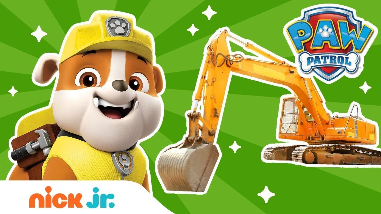 Construction w/ PAW Patrol's Rubble & REAL Trucks! 🚚 PAW