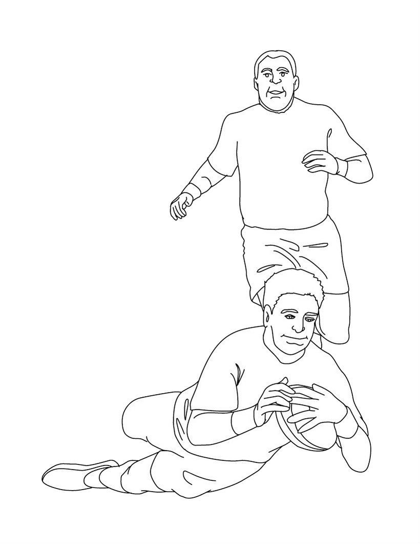 Rugby Protect The Ball While Falling Coloring Pages For Kids Sh Printable Football And Rugby Coloring Pages For Kids Cool Drawings Coloring Pages Rugby