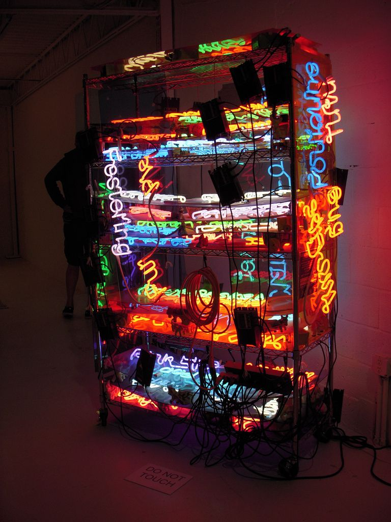 Jason Rhoades-Margulies Collection Miami 2009 #lightartinstallation
