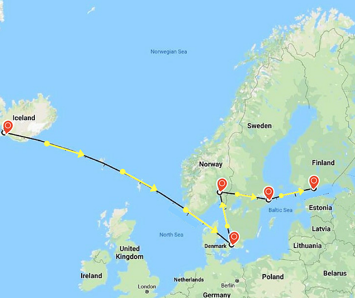 The Coolest 2 Weeks You Ll Ever Spend In The Nordic Countries In 2020 Iceland Travel Norway Sweden Finland Nordic Countries