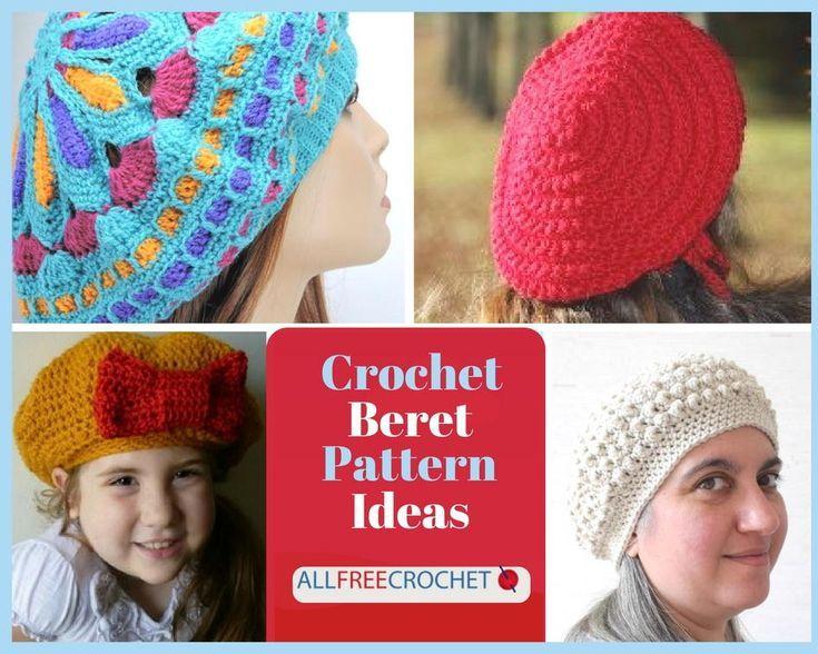 20 Crochet Beret Pattern Ideas   Crochet Hat Patterns, Easy Hats for ...