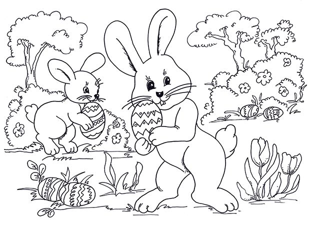 Easter Coloring Page Printable Coloring Printables In 2018