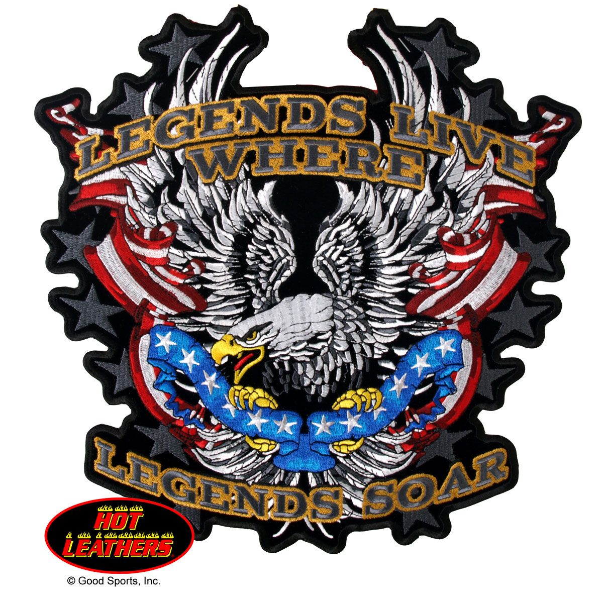 Hot Leathers Legends Soar Patriotic Eagle Patch