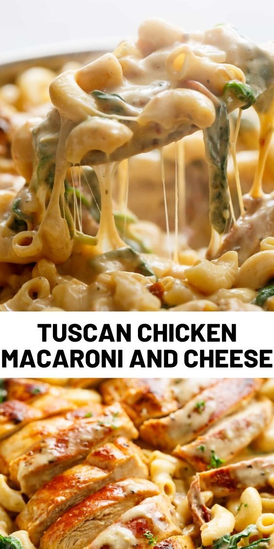 Tuscan Chicken Macaroni and Cheese #deliciousfood