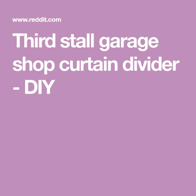 Third Stall Garage Shop Curtain Divider