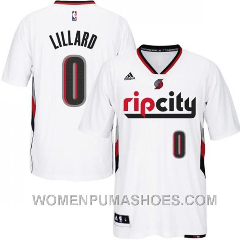 Http Www Womenpumashoes Com Damian Lillard Portland Trail Blazers 0 201415 Swingman Rip City Pride Jersey With Portland Trailblazers White Jersey City Pride