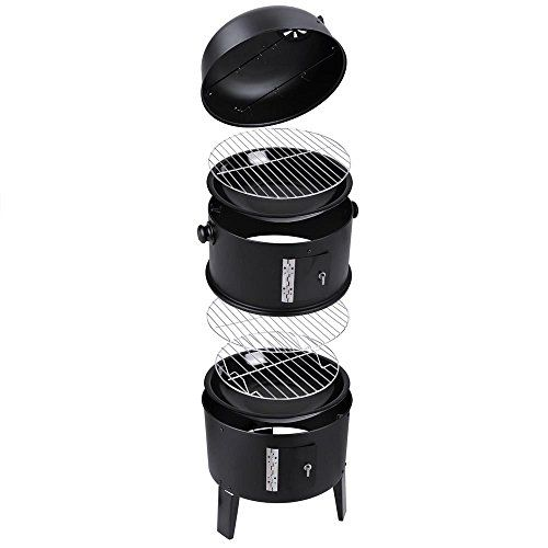 Eight24hours Patio Smoker Grill BBQ Backyard Firepit Charcoal Cooker Meat  Grilling Roasting   B4 **