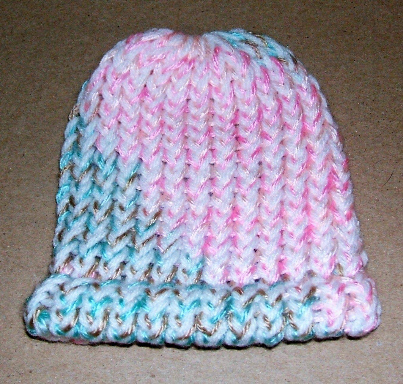 loom knit newborn hat   Loom knit hat, Loom knitting, Loom ...