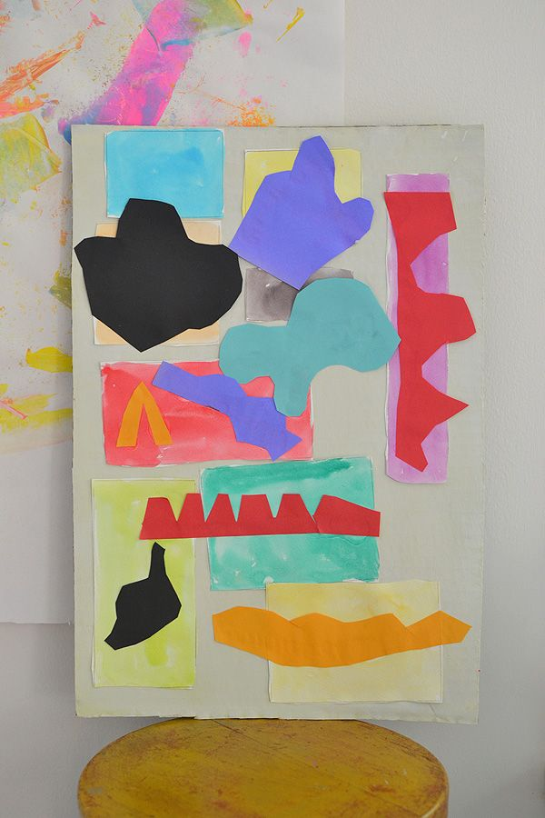 Kids study the artist Matisse through this colorful collage art project.