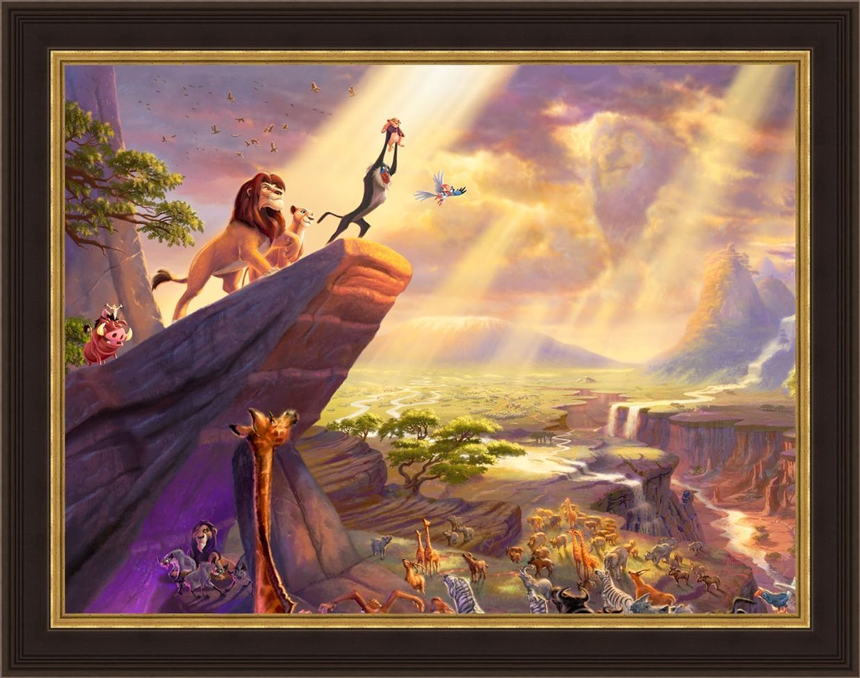 The Lion King Thomas Kinkade Framed Wall Art   The Lion King ...
