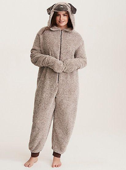97c8592fd Sleep Pug Fuzzy Onesie in 2019 | Cute winter pajamas | Onesies, Pugs ...
