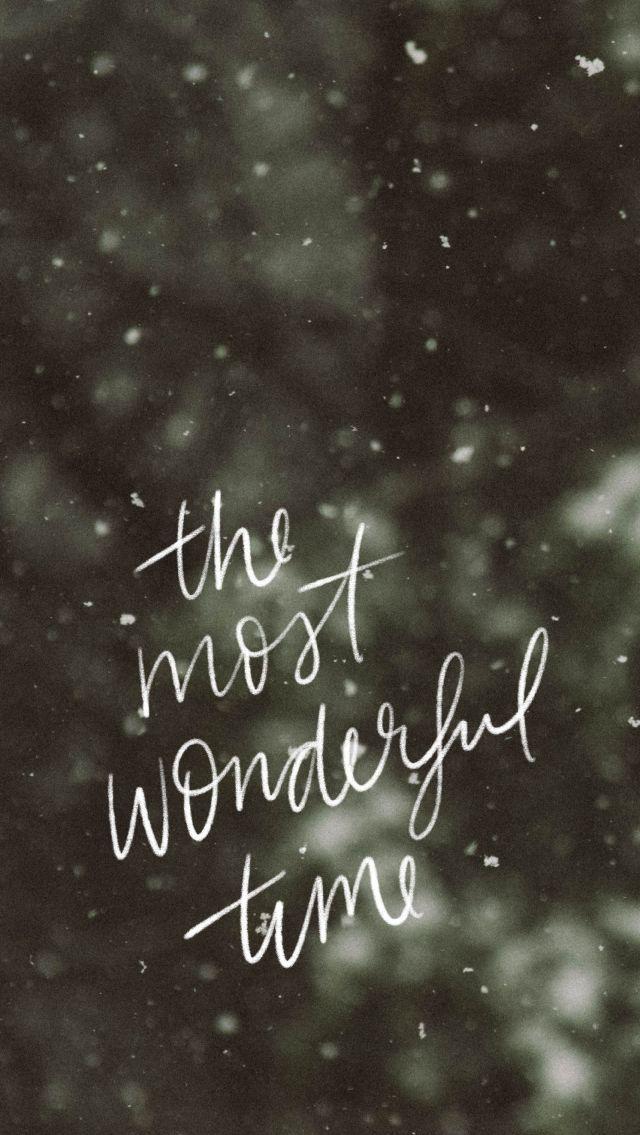 Hand beschriftet Winter Zitat, es ist die schnste Zeit des Jahres. - Christmas -