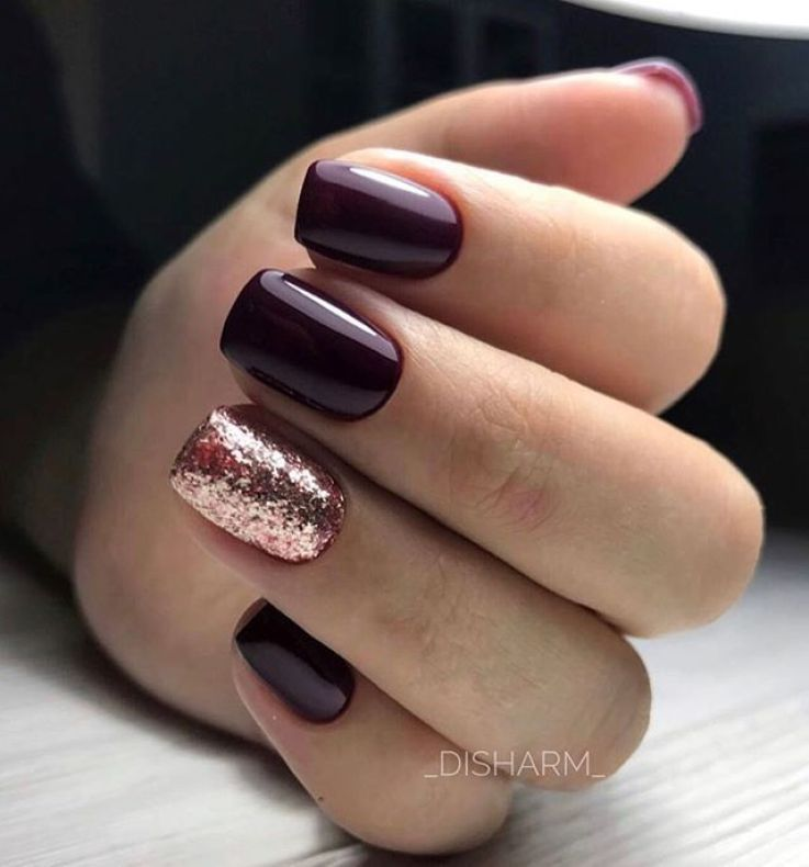 39 Trendy Fall Nails Art Designs Ideas To Look Autumnal Charming Autumn Nail Art Ideas Fall Nail Art Shor Bridesmaids Nails Holiday Nails Burgundy Nails