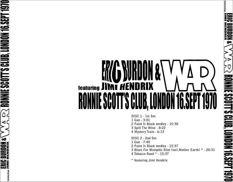 Eric Burdon & War - 1970-09-16 - London (featuring Jimi Hendrix