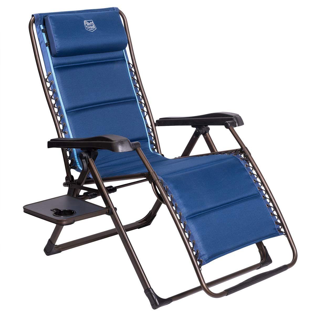 Timber Ridge Zero Gravity Patio Locking Lounge Chair Oversize Xl
