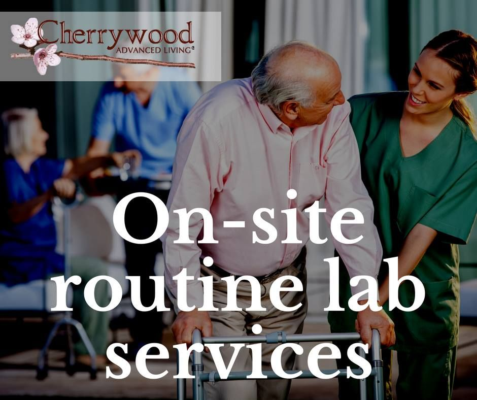 We have onsite routine lab services that allow us to have