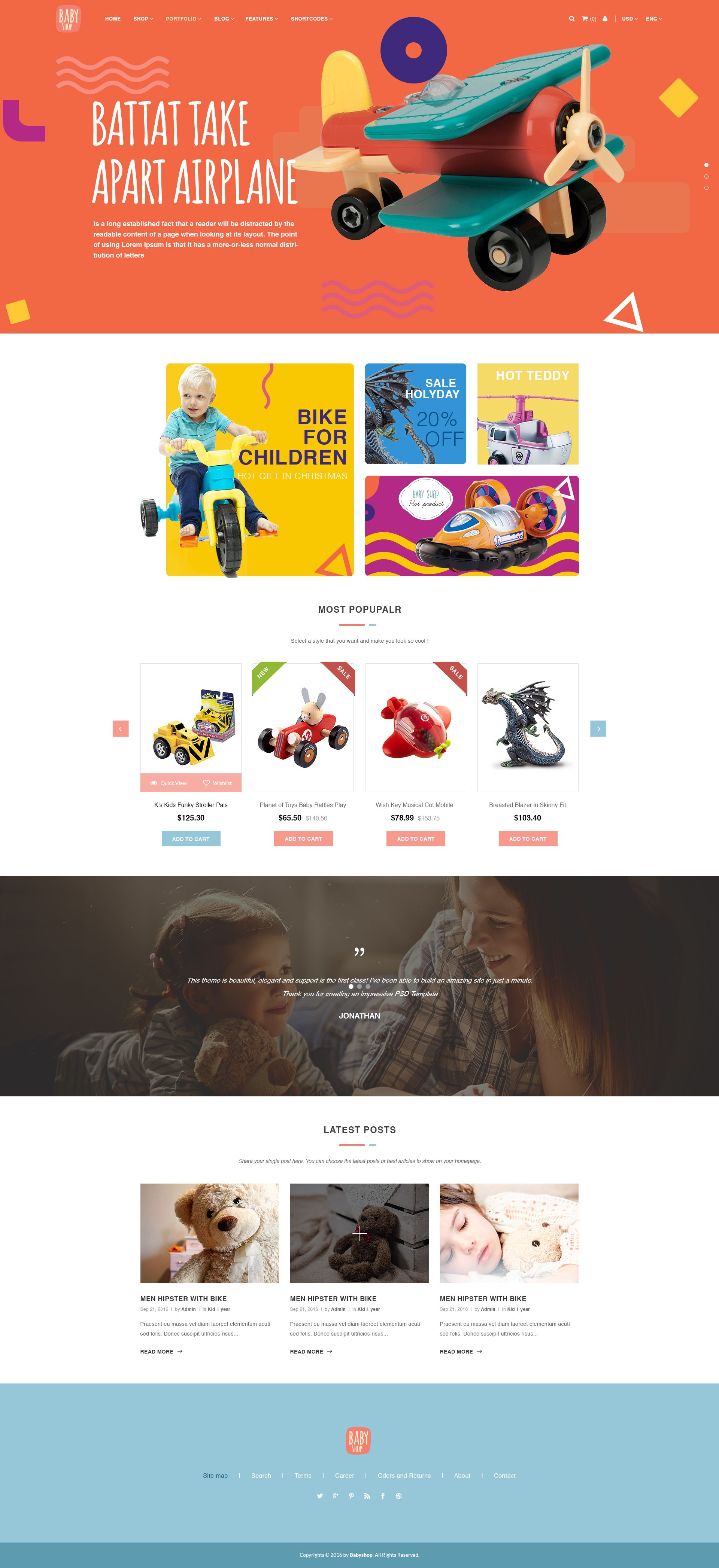 Babyshop Beautiful Psd Template For Baby Stores Banner Design Inspiration Web Banner Design Baby Shop
