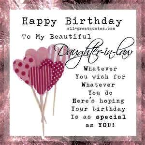 Daughter in law birthday very special days pinterest happy was posted in birthday cards all birthday cards daughter in law bookmarktalkfo Choice Image