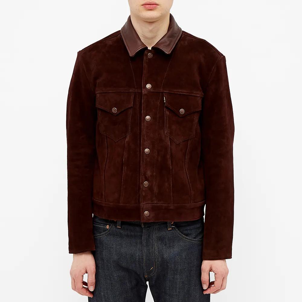 Levi's Vintage Clothing Suede Trucker Jacket in 2020