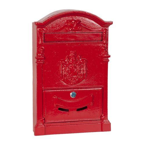Clayre Eef Nostalgischer Englischer Briefkasten Rot 29 X 10 X 45 Cm Briefkasten Kasten Brief