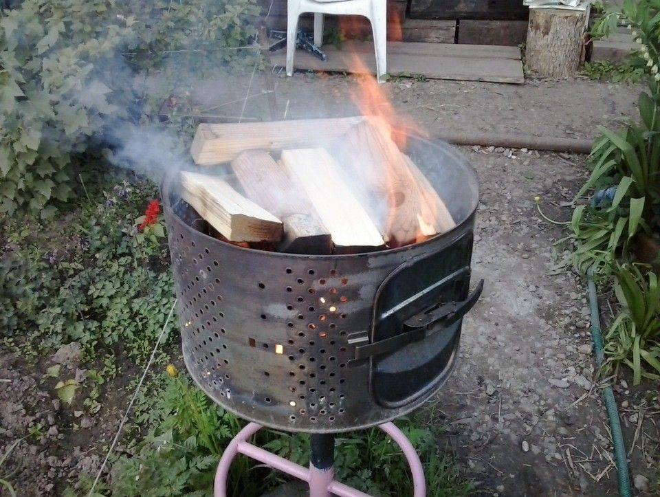 Как сделать мангал из барабана стиральной машины?