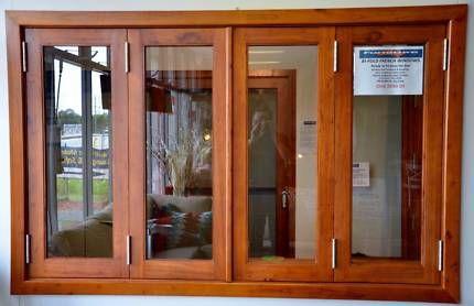 Bifold Servery Window 2400x1200h Solid Cedar 6mm Building Materials Gumtree Australia Melb Wooden Window Design Wooden Window Frames House Window Design