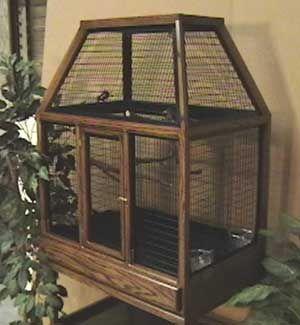 Large Designer In Dark Walnut Oak Bird Cage Design Diy Bird Cage Large Bird Cages