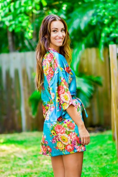 Pin by Kadlee on Love it! Floral Satin Bridesmaid Robe by Kadlee ... 212e5bae5