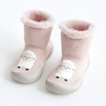 Unisex Soft Pricness Shoes Winter Warm Boot Crib Shoes Socks Shoes Infant Girls Boys Pre Walker Shoes