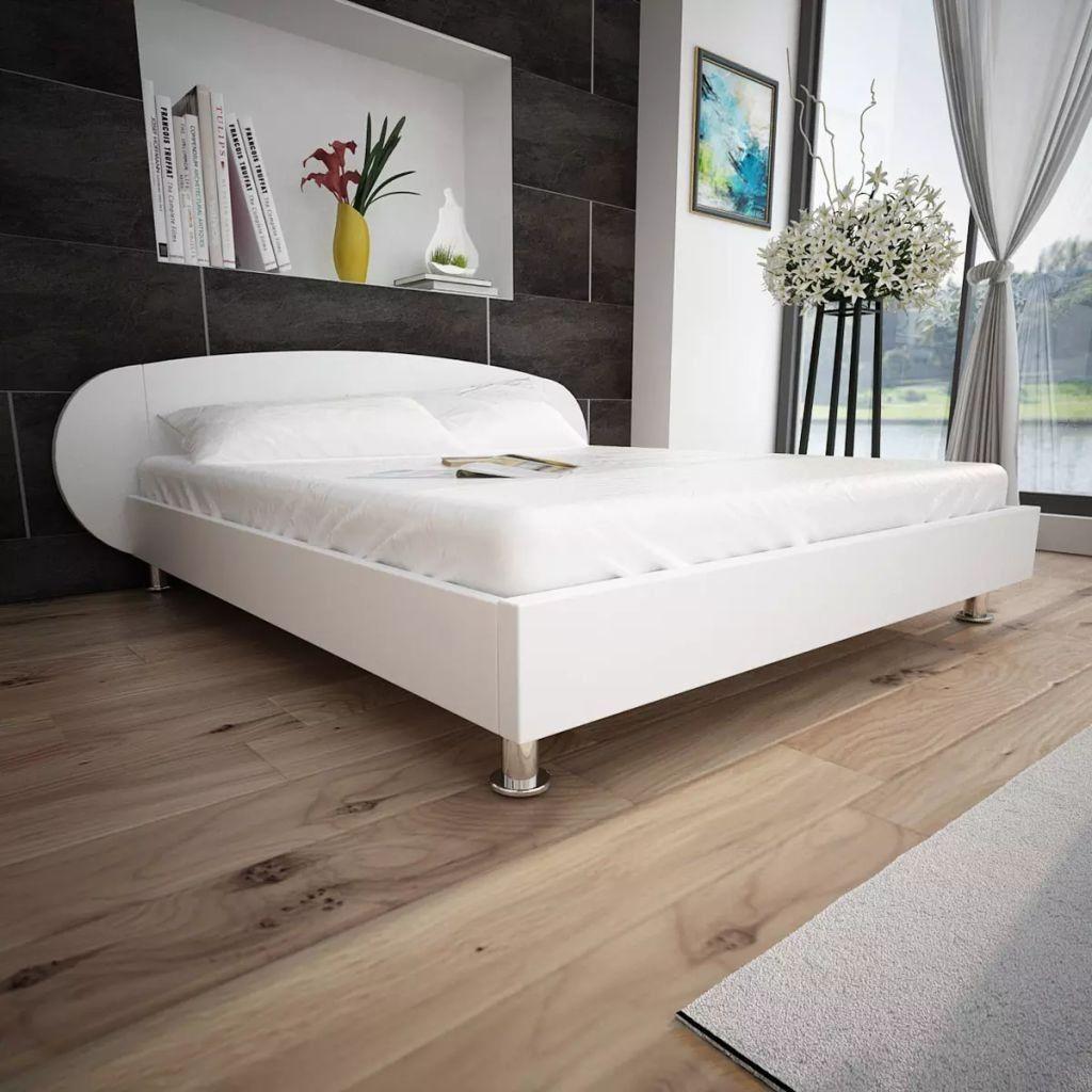 seng 140 seng 140 x 200 kunstlæder hvid , vidaXL seng 140 x 200 kunstlæder  seng 140