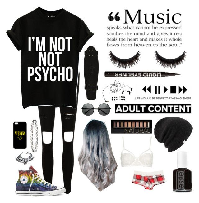 Untitled #1 by whoochu on Polyvore featuring polyvore, fashion, style, Splendid, Topshop, Converse, VidaKush, Coal, Forever 21, H&M, Essie, Grado, nirvana, grunge and PunkRock