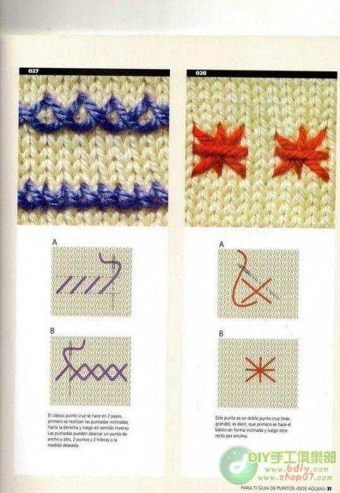 вышивка на вязаном полотнеидеисхемы обсуждение на Liveinternet