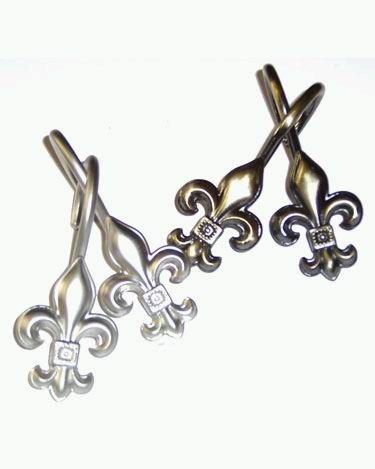 Fleur De Lis Decorative Shower Hook Ring Fleur De Lis Fabric