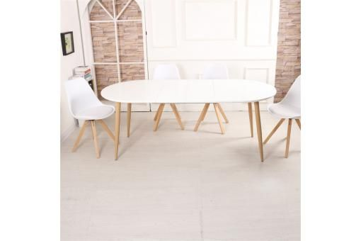 Table Scandinave Extensible Blanche AreneIdées Déco mn80Nvw