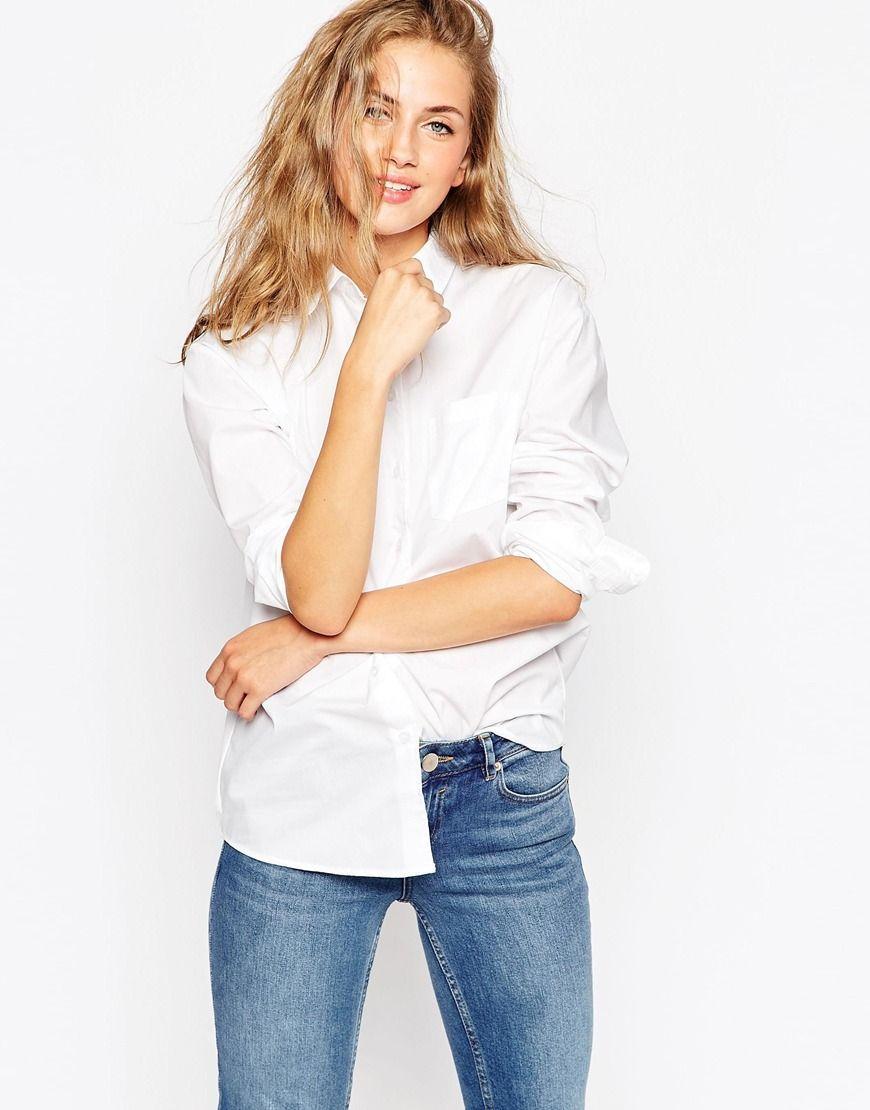 2016/2/11獅子座ラッキーアイテム ボーイフレンドシルエットのホワイトシャツ 思い切ったスタートを切りたい時。勢いがほしい時に。ASOS Slim Boyfriend White Shirt with Pleat Detail Back
