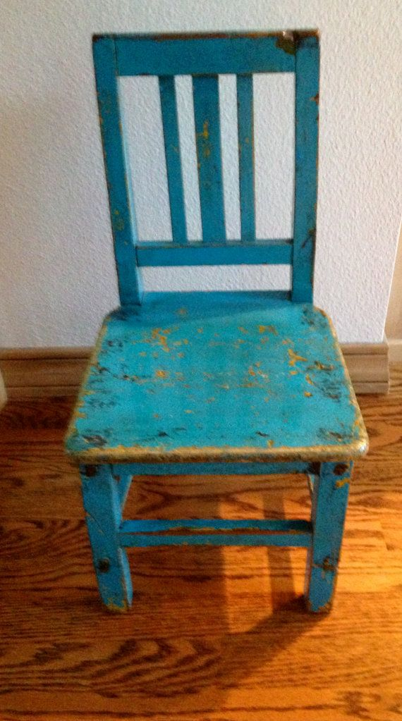 Pin By Tammy Brewington On Blue Heaven Painted Wood Chairs Blue