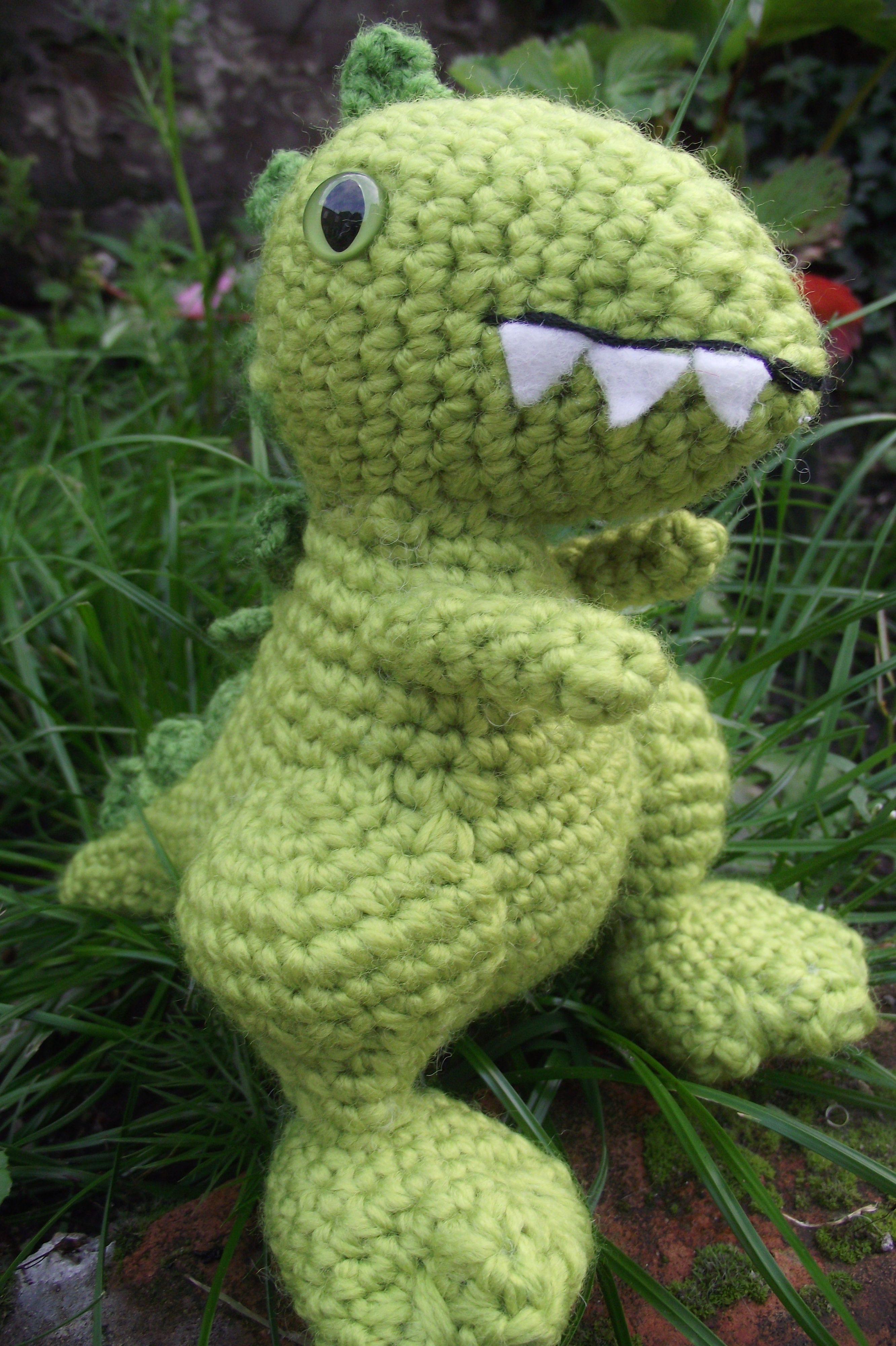 Dinosaur toy £12 with postage! crochet dinosaur toddler