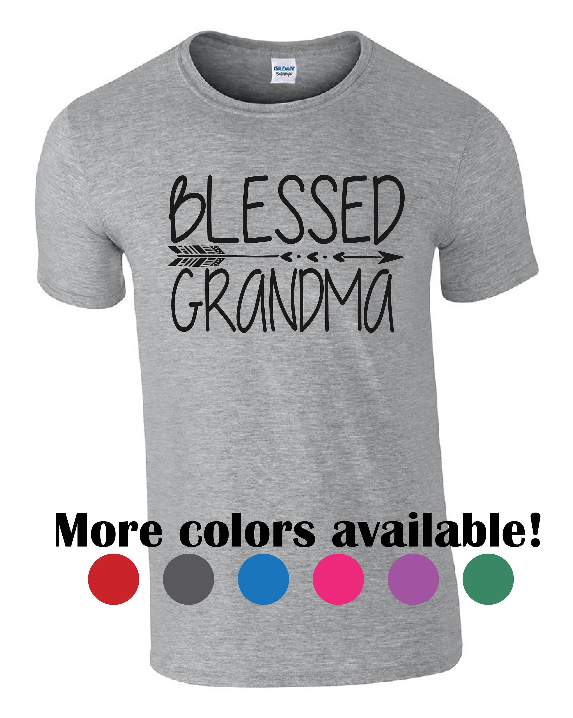 8804c4af Blessed Grandma t shirt. Great gift idea for grandmother. Mother's day gift.  Arrow design. Funny shirt for grandma. Custom grandma shirt
