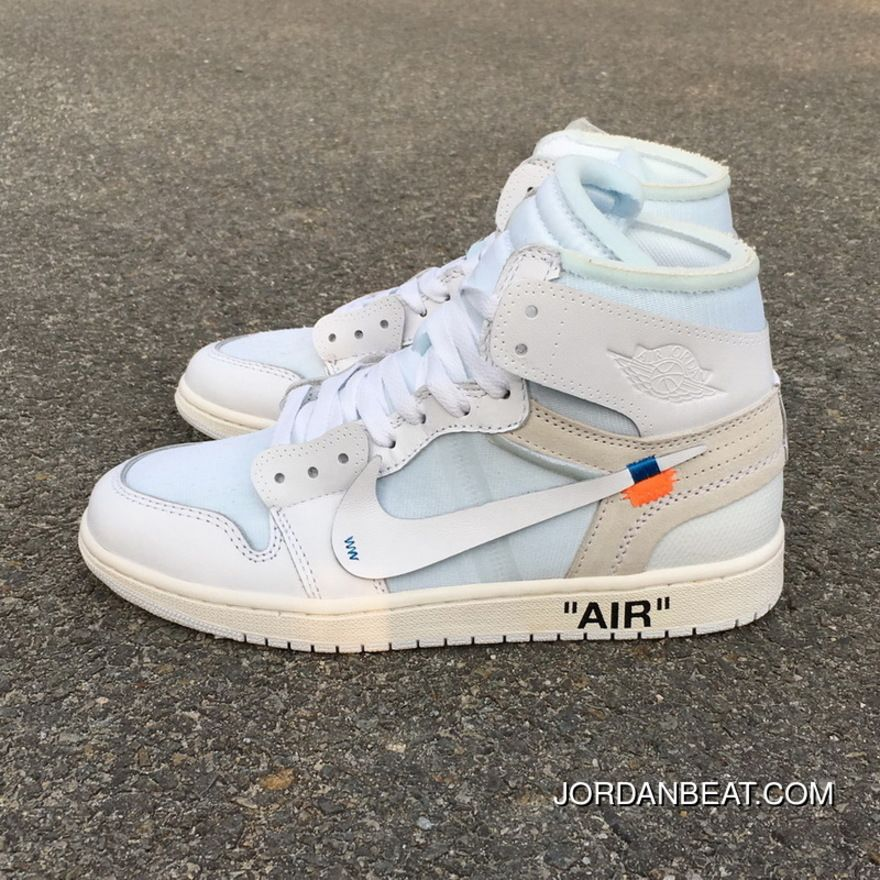 buy online ea22c 076fe OFF-WHITE X Air Jordan 1 OW Collaboration All White AQ0818-100 Best