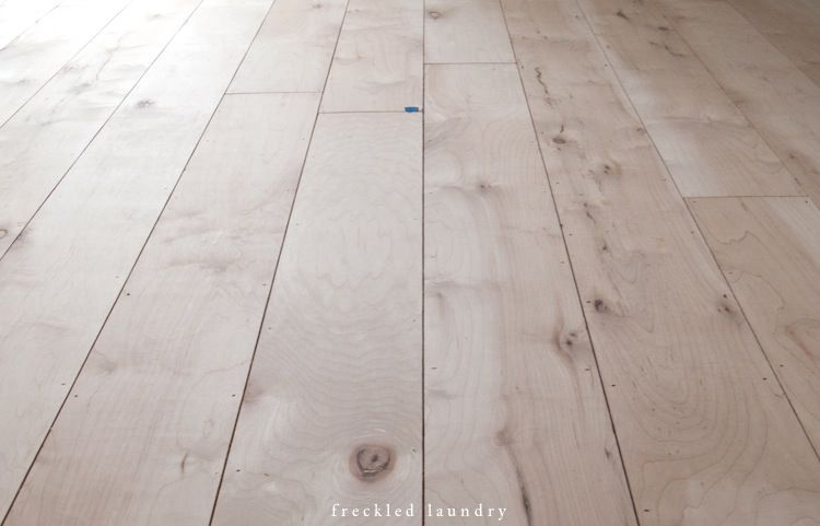 Painted Plywood Floors The Wood Was So Much Softer