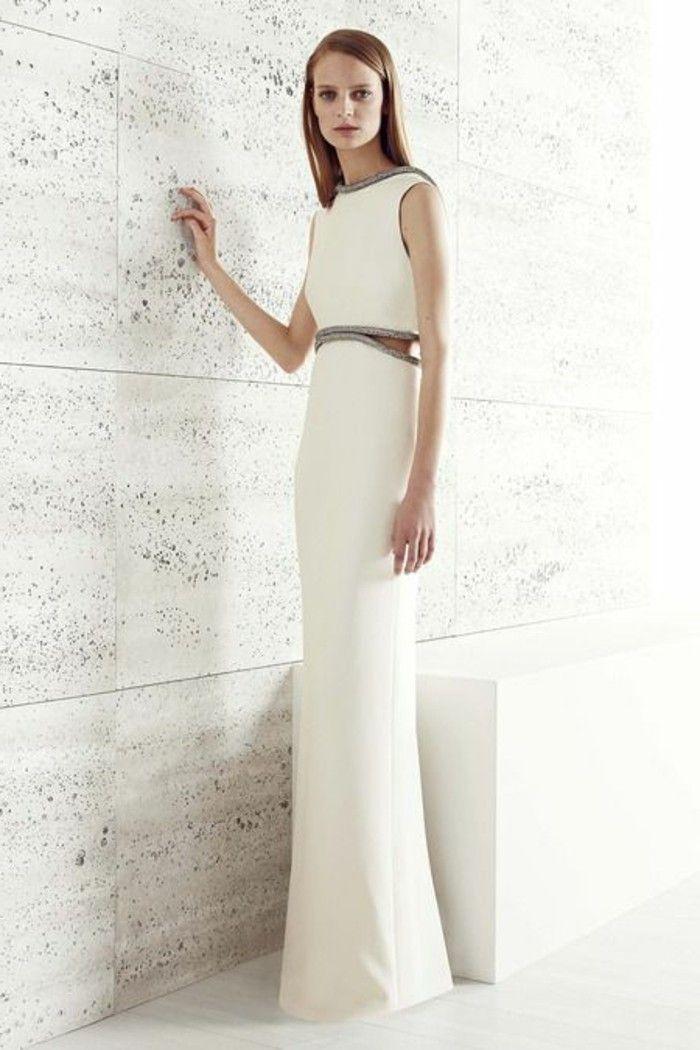 elegante-kleider-weiß-bodenlang   elegante kleider