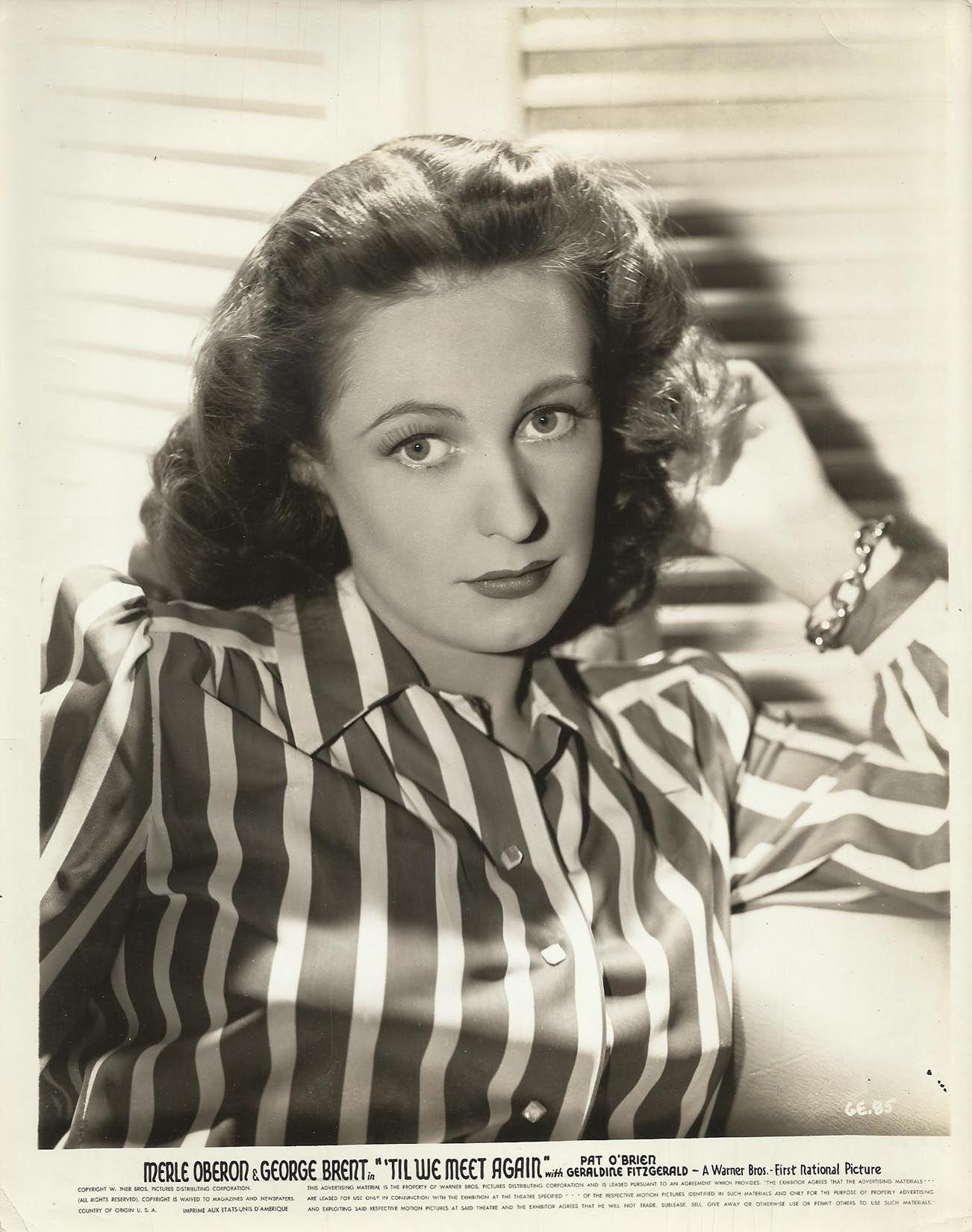 "Operarex - GERALDINE FITZGERALD in ""Till We Meet Again"" Original Photo Portrait 1940"