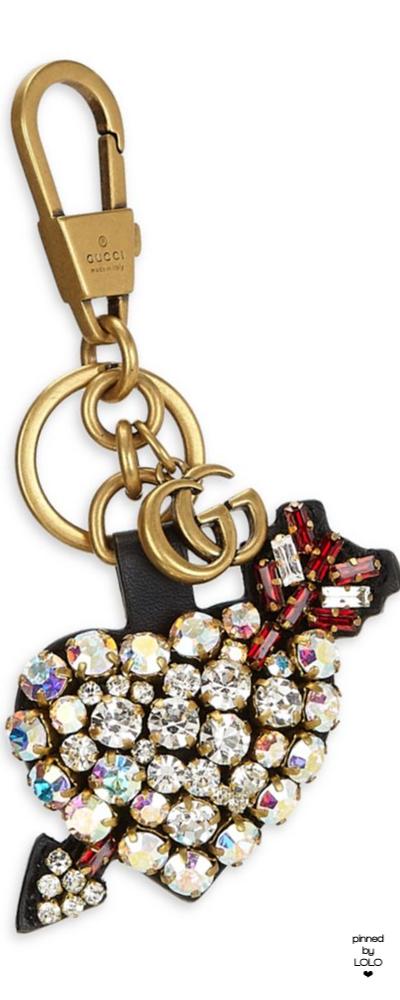 c59ae696796 Gucci Pierced Heart Crystal Keychain Crystal Keychain