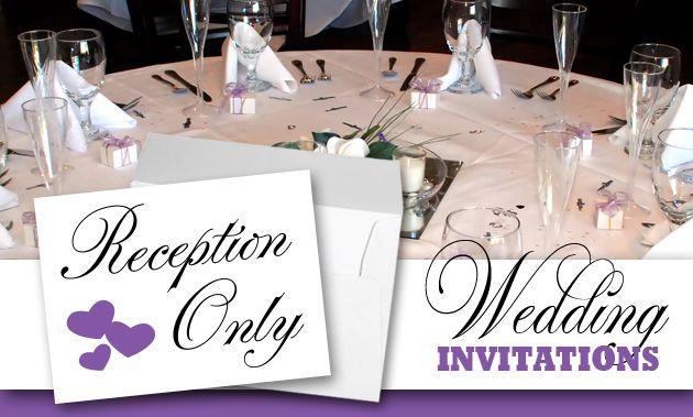 Reception Invitation Wording After Destination Wedding: Post Wedding Reception Only