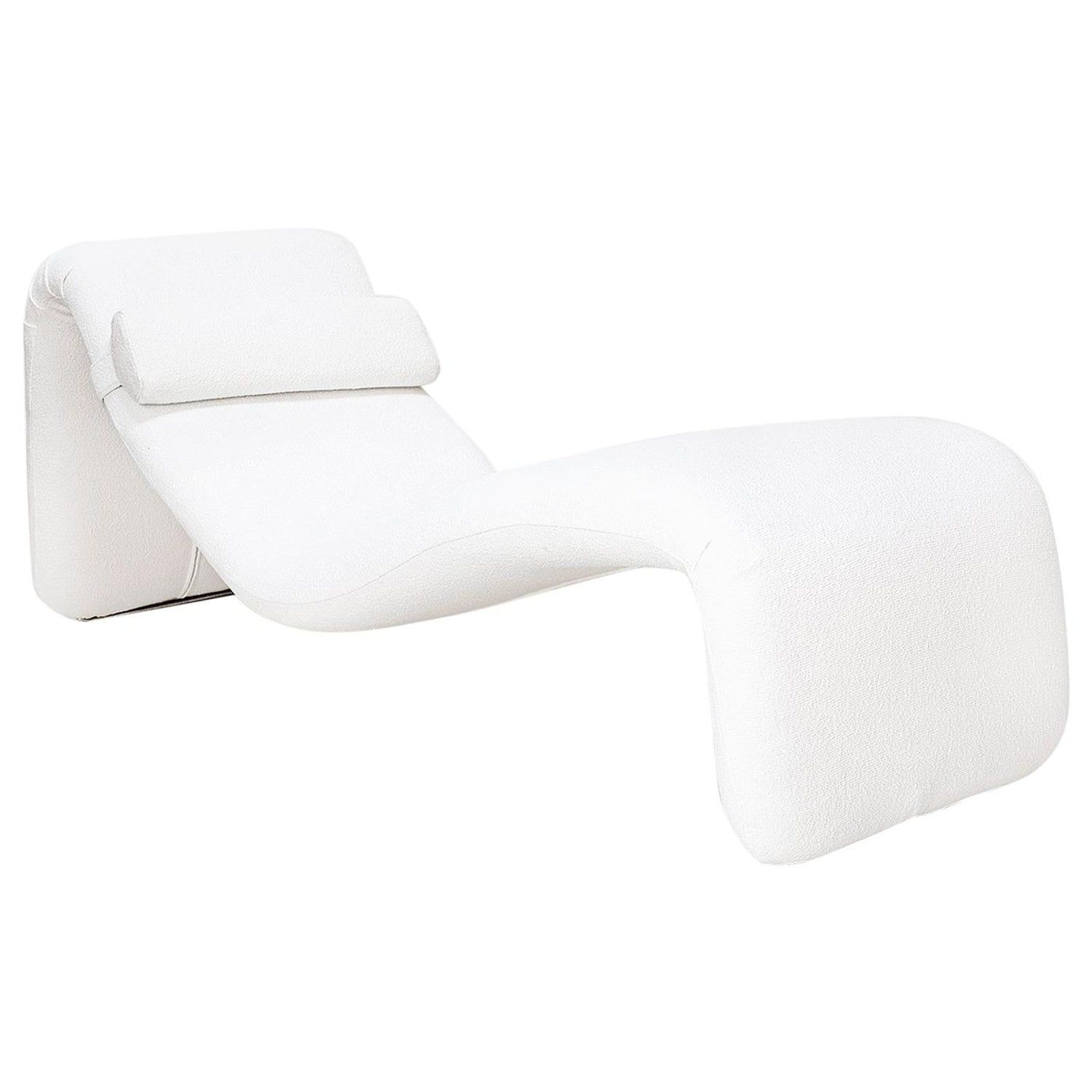 Olivier Mourgue Chaise Lounge Djinn France 1960s Study Interior Design Chaise Lounge Modern Chair Fabric