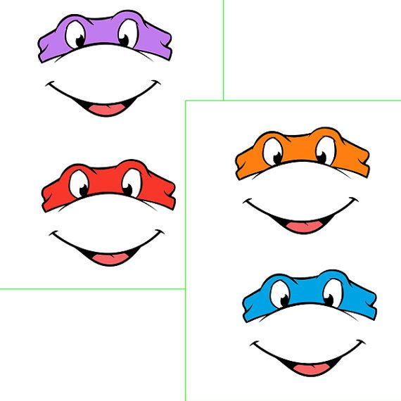 INSTANT Download - Ninja Turtles EYES with mouth -for Balloon ...